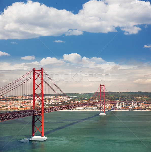 25th of April Suspension Bridge in Lisbon, Portugal, Eutopean tr Stock photo © Taiga