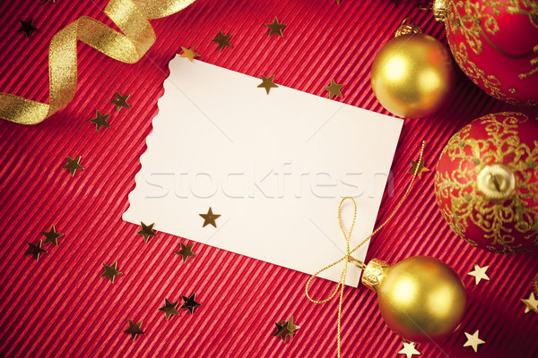 Christmas cards / with copy space / red and gold Stock photo © Taiga