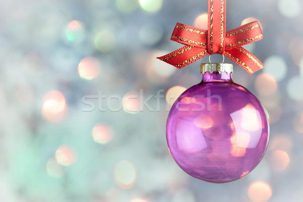 Noël décoration magie bokeh babiole belle Photo stock © Taiga
