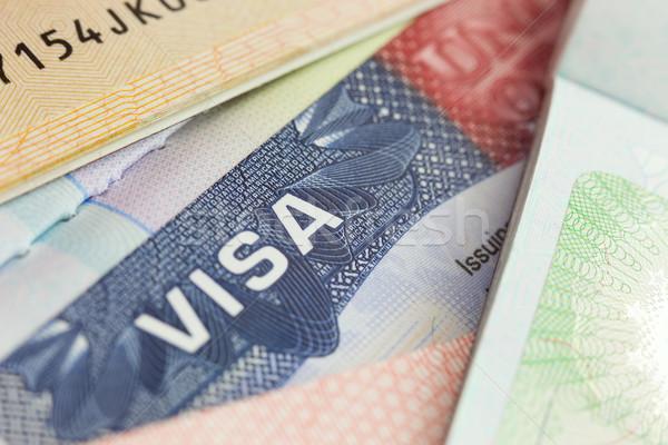USA visto passaporto messa a fuoco selettiva business sfondo Foto d'archivio © Taiga