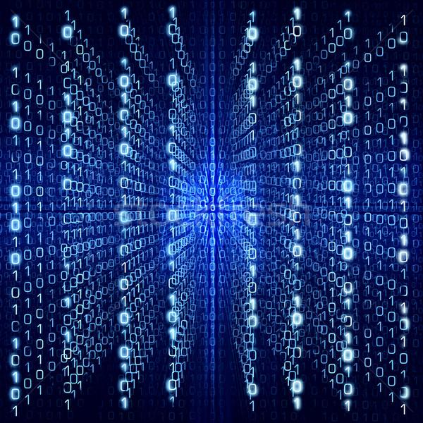 Blau Matrix abstrakten digitalen groß Größe Stock foto © Taiga