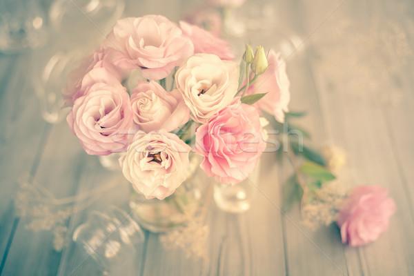 нежный Vintage букет красивой розовый цветы Сток-фото © Taiga
