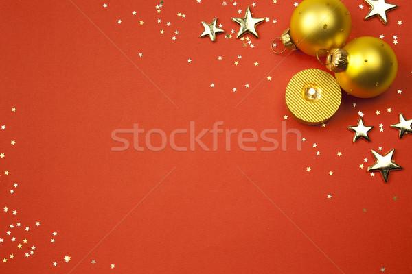 Christmas vakantie sterren kaars maat Stockfoto © Taiga