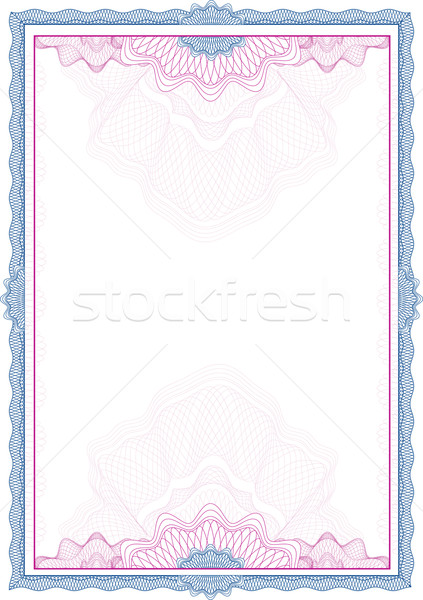 Classic guilloche border for diploma or certificate Stock photo © Taiga