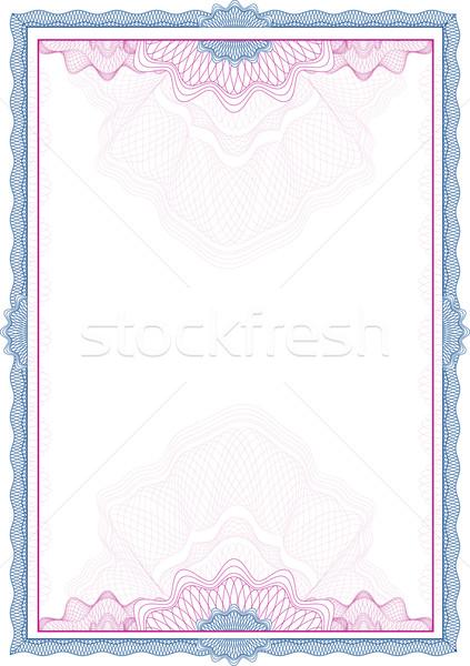 Clásico frontera diploma certificado negocios papel Foto stock © Taiga