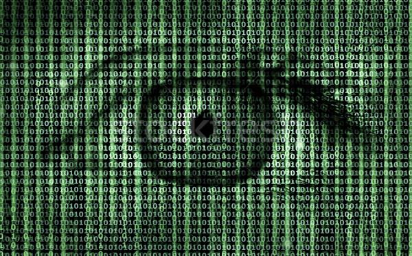 Сток-фото: матрица · двоичный · программа · Код · человека · глаза
