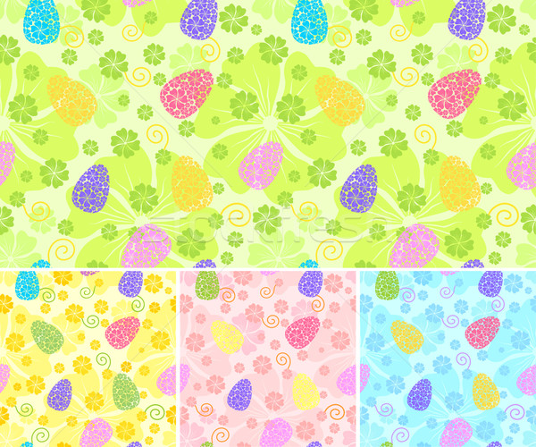 seamless easter bacground / 4 colors variants / vector Stock photo © Taiga