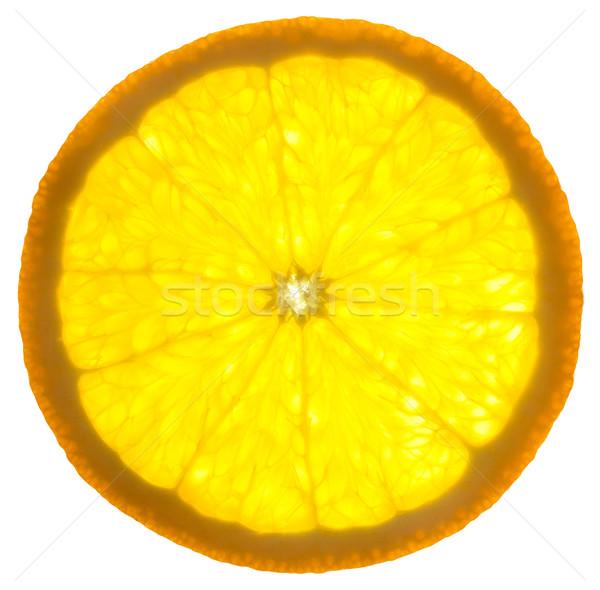 Slice of an orange /  isolated on white background /  back lit Stock photo © Taiga