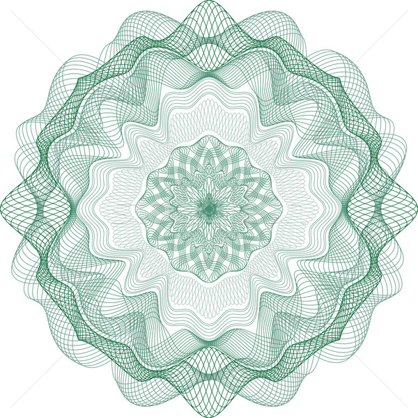 Guilloche Rosette for Certificate or Diploma, Currency and Money Stock photo © Taiga