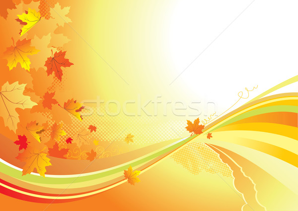 Autumn Background /  gold leaves whith copy space for yout text Stock photo © Taiga