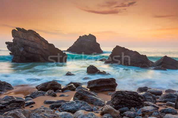Ocean Landscape at beautiful Sundown Stock photo © Taiga