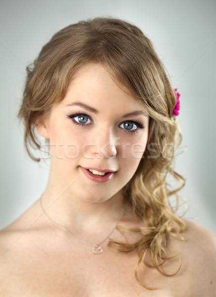 Studio portret jonge tiener meisje kapsel Stockfoto © Taiga