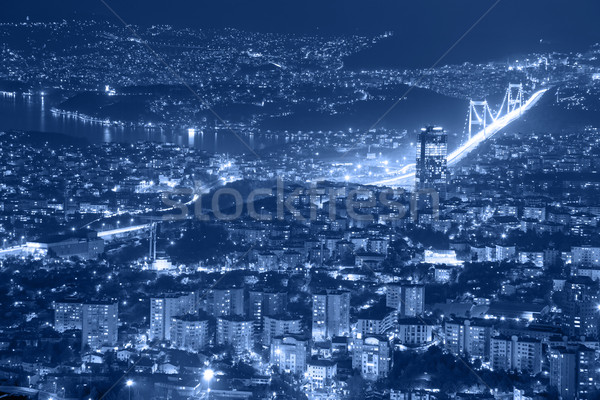 Aerial view of the Istanbul city downtown and bridge Stock photo © Taiga