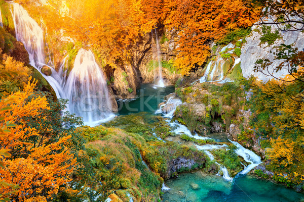 Autumn landscape with picturesque waterfalls  Stock photo © Taiga
