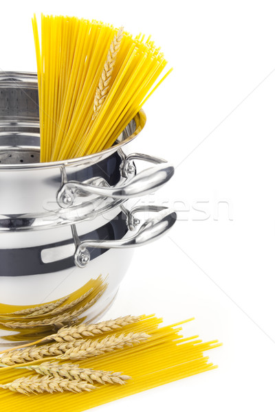 Italian cooking / saucepan with pasta / isolated on white  Stock photo © Taiga