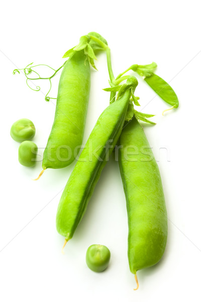 Green Pea's Pods, Opened and Closed  - isolated on white backgro Stock photo © Taiga