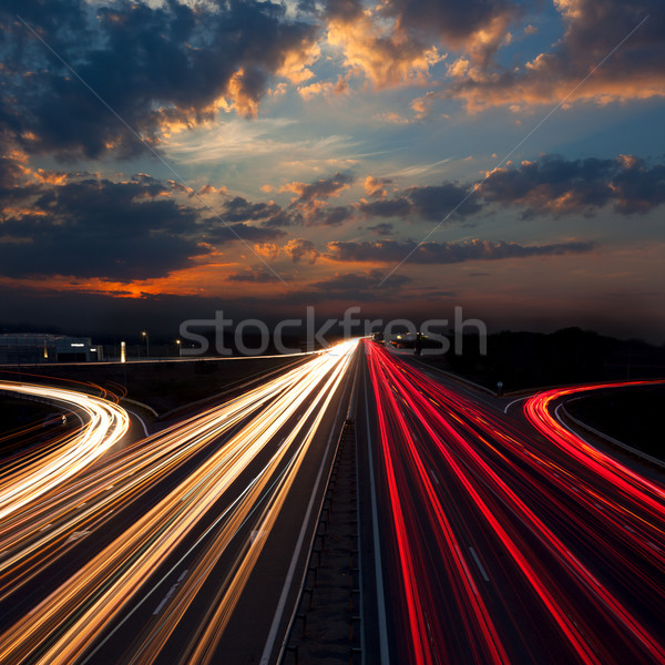Long Exposure Traffic - abstract urban background Stock photo © Taiga