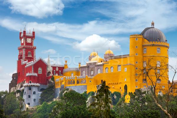 Stock fotó: Légifelvétel · történelmi · palota · Portugália · kék · ég · Lisszabon