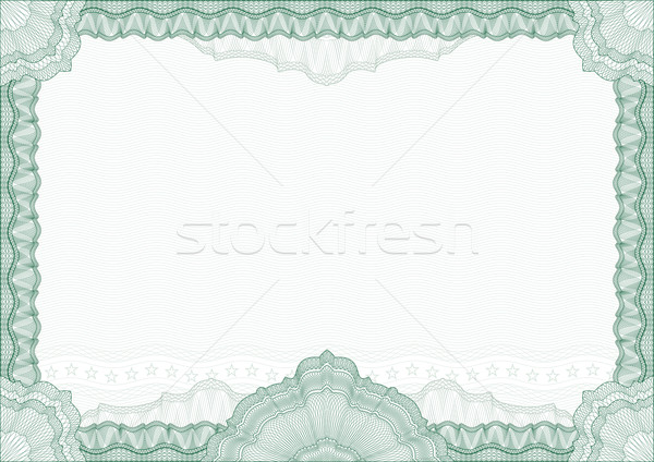 Classic guilloche border for diploma or certificate with protect Stock photo © Taiga