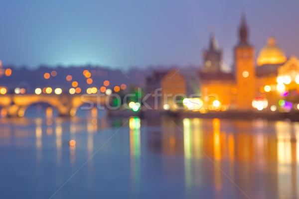 Travel Background of defocused european city, Prague Stock photo © Taiga