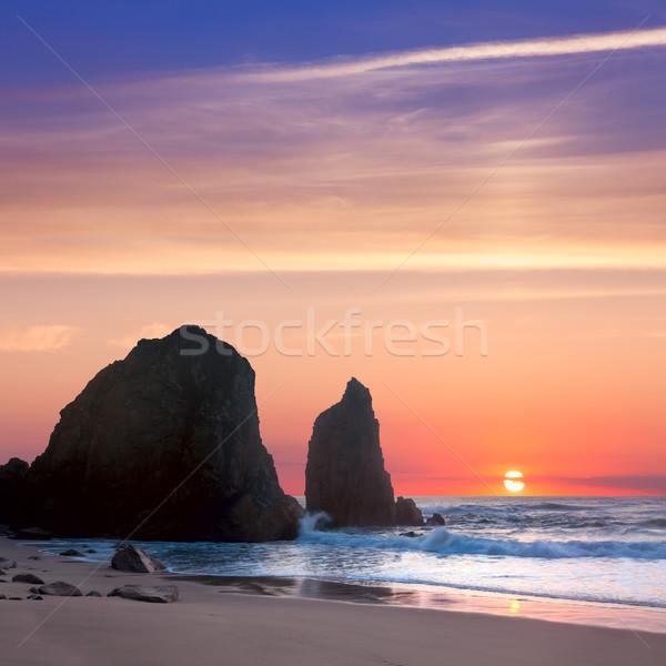 Morza krajobraz zachód słońca romantyczny czasu duży Zdjęcia stock © Taiga