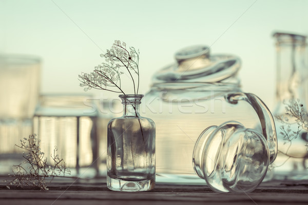 Still Life of Different Glassware - vintage style Stock photo © Taiga