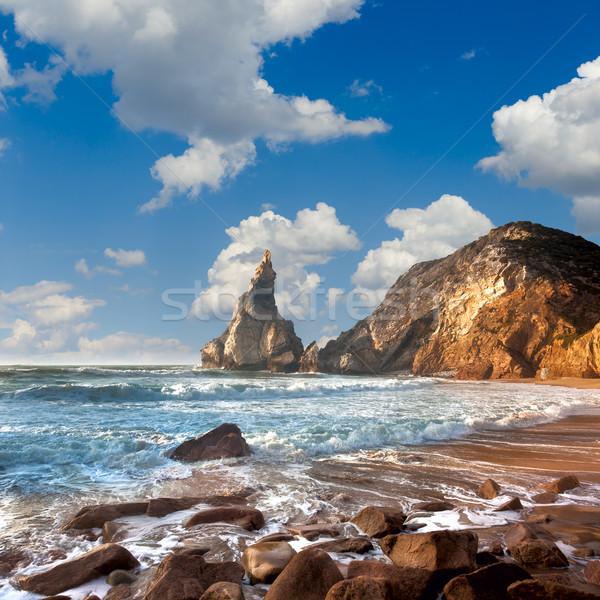 Yaz deniz plaj fantastik kaya taşlar Stok fotoğraf © Taiga