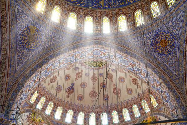 Interior of the Blue Mosque /  Istanbul, Turkey Stock photo © Taiga