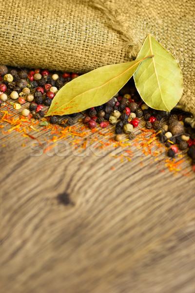 Specerijen peper macro organisch gedroogd kleurrijk Stockfoto © Taiga