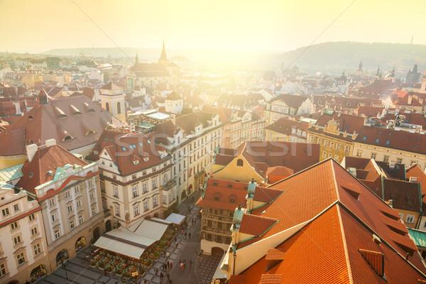 プラハ 市 赤 屋根 美しい ストックフォト © Taiga