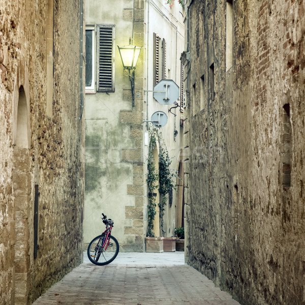 Old Mediterranean Town street with retro bike Stock photo © Taiga