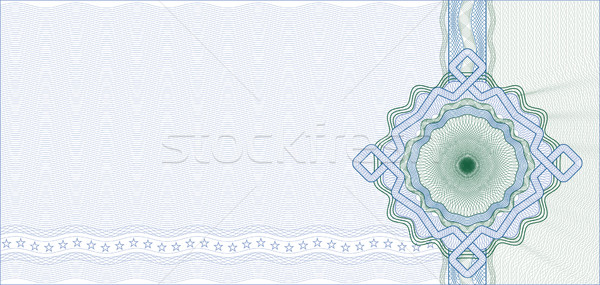 Secured Guilloche Background for Certificate, Voucher or Banknot Stock photo © Taiga
