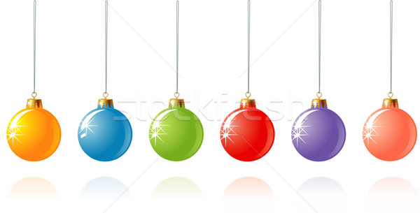 Christmas decoration in different colors / vector Stock photo © Taiga