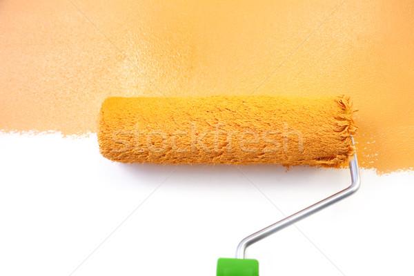 Painting - Home Improvement / Orange / isolated on white backgro Stock photo © Taiga