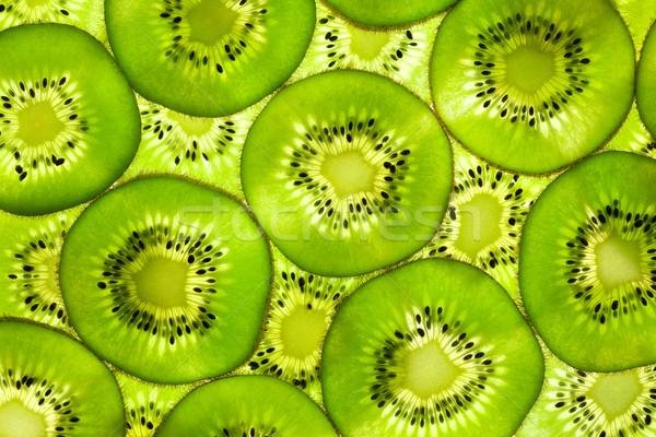Fresh Kiwi pattern / background / back lit Stock photo © Taiga