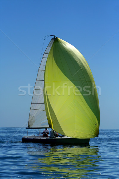 Sailing yaht with spinnaker in the wind Stock photo © Taiga
