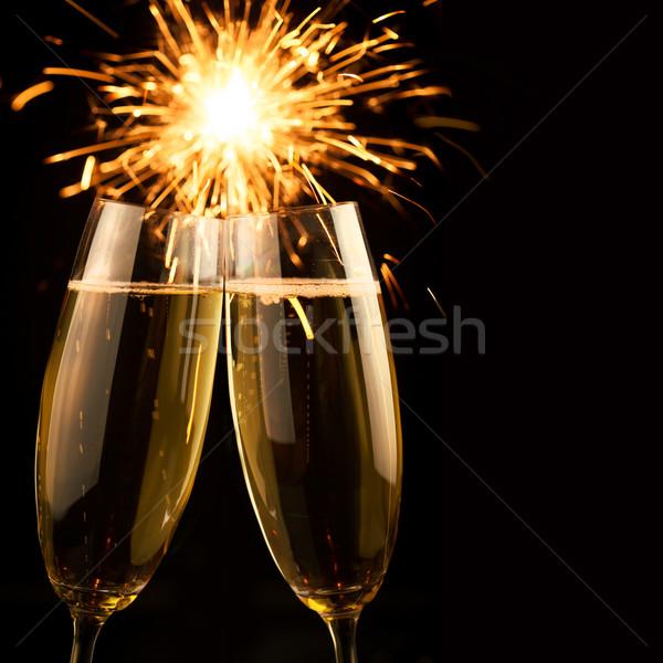 красивой шампанского черный квадратный искусства Сток-фото © Taiga