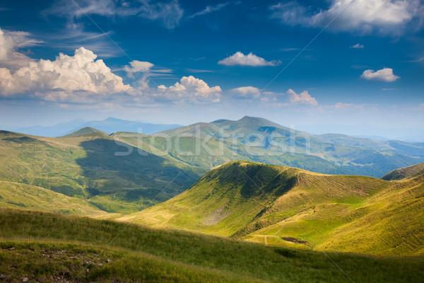 Landscape of Mountain Range in Summer  Stock photo © Taiga