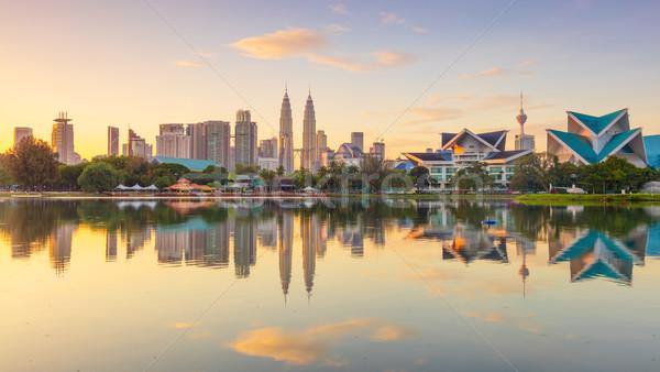 Sunrise Panoramic view of Kuala Lumpur city, Malaysia Stock photo © Taiga