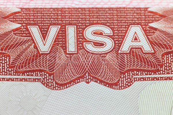 иностранный визы паспорта страница наслаждаться путешествия Сток-фото © Taiga