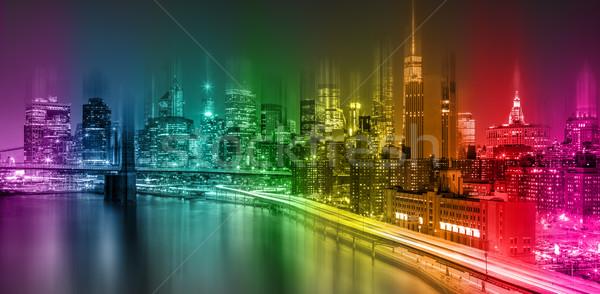 Fantastico colorato New York City abstract Manhattan Foto d'archivio © Taiga