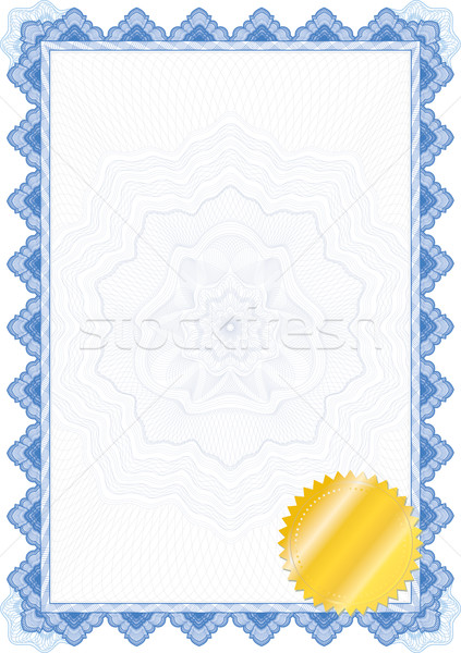 Classic guilloche border for diploma or certificate / vector Stock photo © Taiga