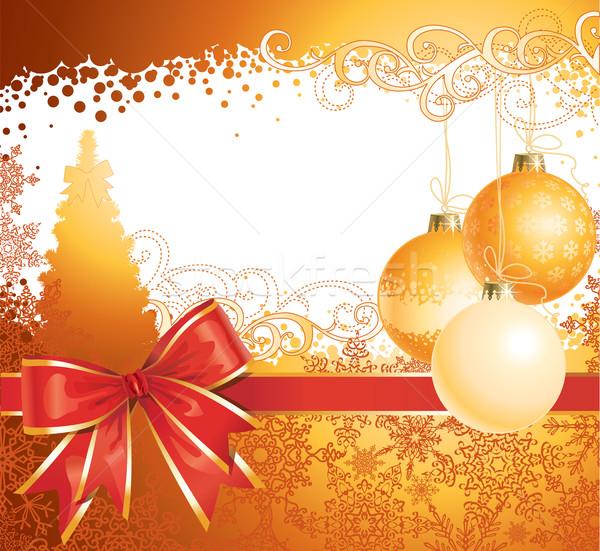 Christmas decoraties boeg vector exemplaar ruimte abstract Stockfoto © Taiga