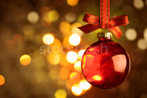 Weihnachten rot Spielerei Magie bokeh Bogen Stock foto © Taiga