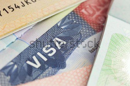 USA VISA útlevél üzlet háttér biztonság Stock fotó © Taiga