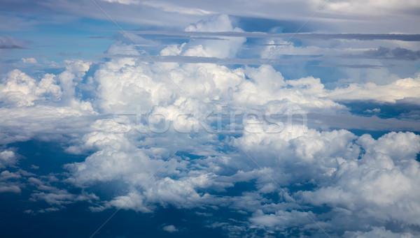 Güzel dramatik bulutlar gökyüzü atmosfer düzlem Stok fotoğraf © Taiga