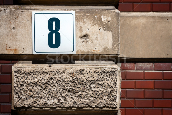 Number 8 on a wall Stock photo © Taigi
