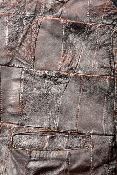 Leather pieces texture Stock photo © Taigi