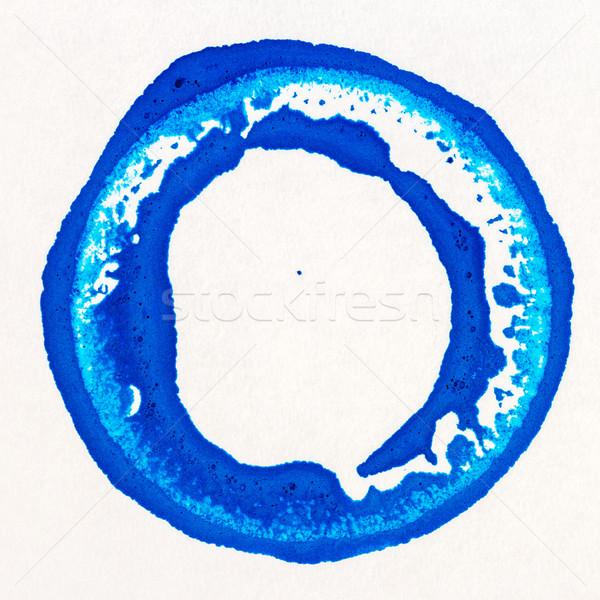 Vibráló akril festék kör kék fehér Stock fotó © Taigi