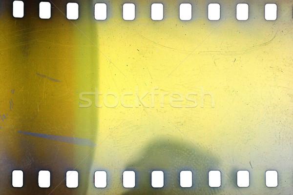 öreg grunge filmszalag citromsárga vibráló zajos Stock fotó © Taigi